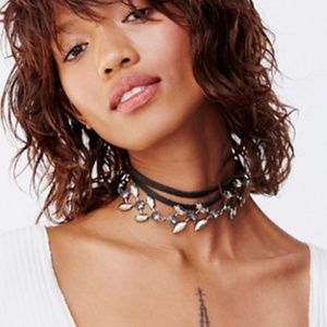 Freepeople Leather Embellished Choker